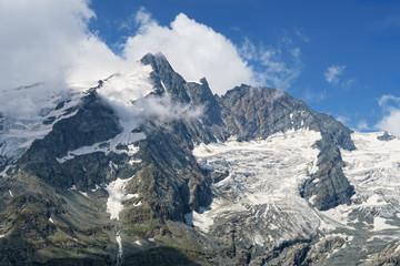Grossglockner peak with clouds