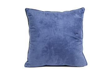 blue cushion isolated on white background