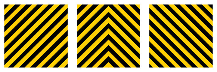 set warning striped rectangular background,