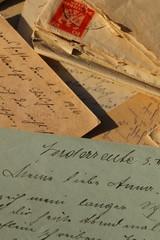 Old letters in German, alte Briefe von 1916