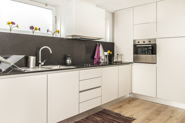 Clean fresh and bright kitchen