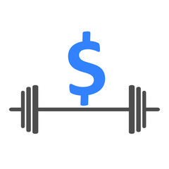 Barbell. Business icon