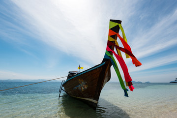 Bow of Thai longtail boat