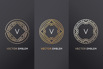 Vector set of design elements and labels