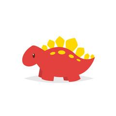 Cute dinosaur stegosaurus cartoon vector