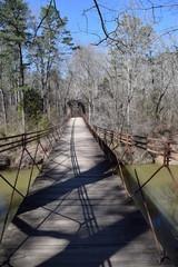 Footbridge across Bear Creek in Tishomingo State Park Mississippi
