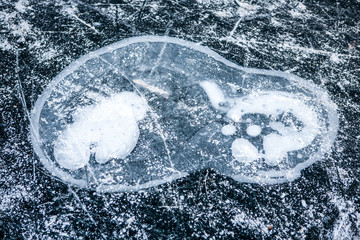 Frozen air bubble