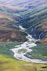 Noatak River And The Brooks Range, Gates Of The Arctic National Park, Northwestern Alaska; Alaska, United States Of America