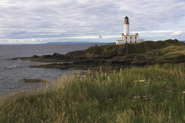 A lighthouse along the coast; Scotland