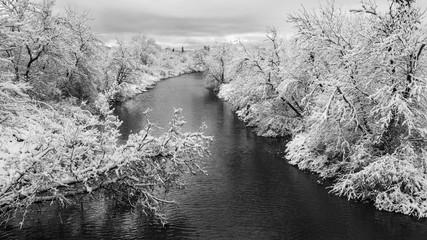 Winter wonderland landscape; Thunder Bay, Ontario, Canada