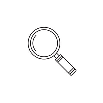 Search icon vector, magnifying glass solid logo illustration, pictogram isolated on white