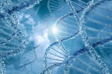 DNA molecules design illustration.