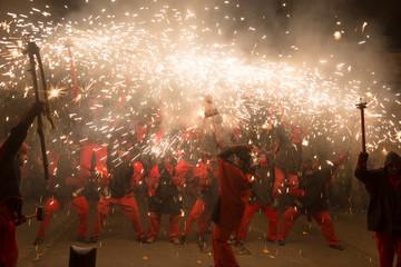 fireworks at fiesta de sant antonio