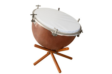 classical music percussion instrument kettle drums isolated on white background