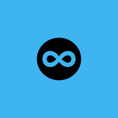 Limitless sign icon. flat design