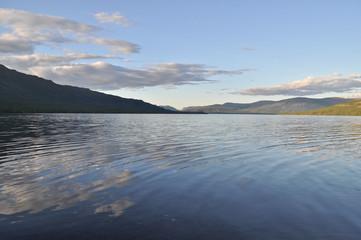 Morning on a lake in the Putorana plateau.