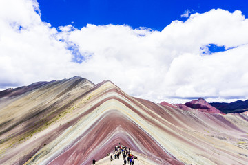 Poster South America Country The Rainbow mountains of Peru