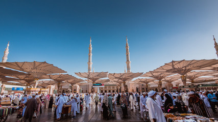 Muslims come to Medina annually while performing pilgrimage Hajj.