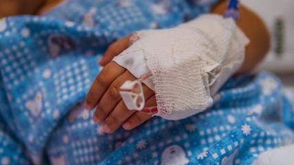 Child wearing a wrist splint.
