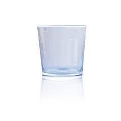 ПечатьPure transparent empty glass cup on a white background