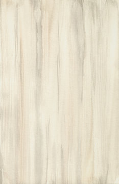 Wood texture watercolor. Hand painting abstract wooden background on paper
