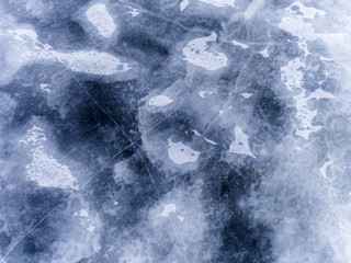 Aerial view frozen ice, abstract