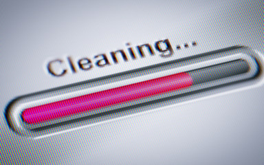 Process of Cleaning on a screen.