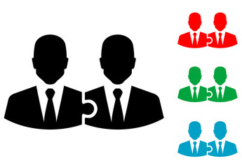 Icono plano Teamwork varios colores