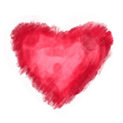 Heart love watercolor paint
