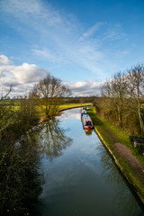 Canal in Northamptonshire, UK