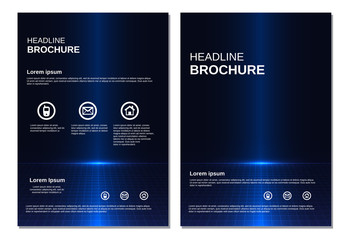 Template layout for magazine brochure flyer vector
