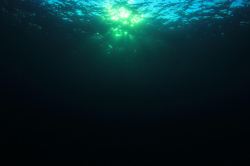 Underwater background in ocean