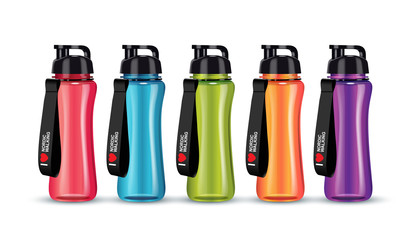 Vector illustration of sport water bottle.