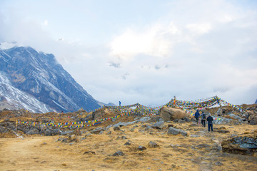 beautiful view on top of Annapurna Base Camp