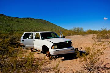 Stripped in the Desert