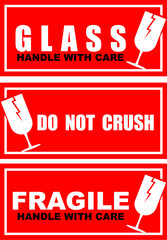 do not crush, sticker