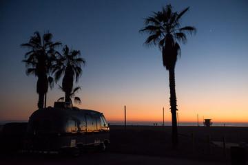 California Camper Sunset