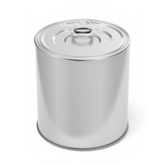 Tin Can Food Packaging.3D Illustration