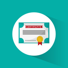 certificate diploma education icon vector illustration eps 10