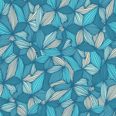 Seamless pattern abstract background with colorful ornament. Hand draw vector illustration.