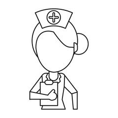 nurse work hospital clipboard thin line vector illustration eps 10