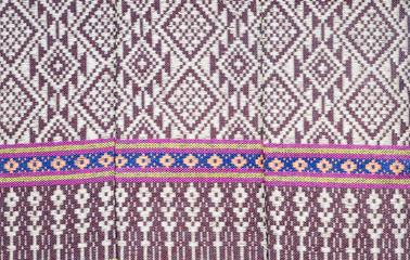 thai fabric pattern background
