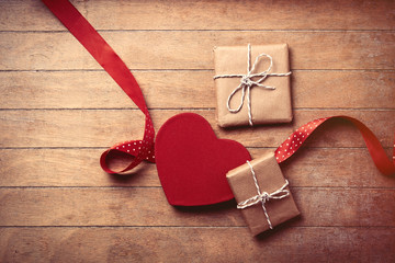 gifts, toy and ribbon