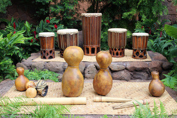 Hawaiian musical instruments used for hula