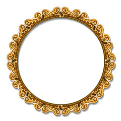 round frame gold color with shadow