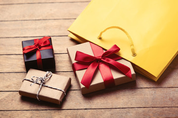 gifts and bag