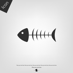Fish bone vector icon