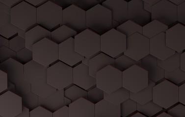 3d futuristic black pattern. 3d render.