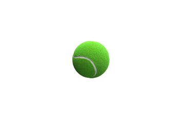 Transparent 3d render hairy tennis ball on a gray background