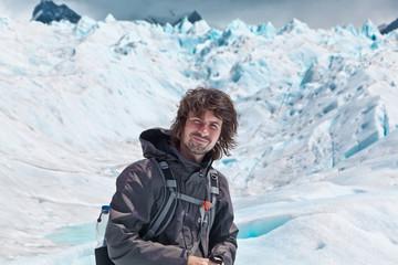 Wanderer auf dem Gletscher